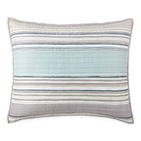 Home Expressions Reagan Stripes Quilt, One Size , Blue