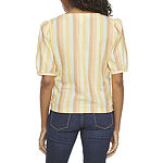 a.n.a Womens V Neck Short Sleeve Blouse