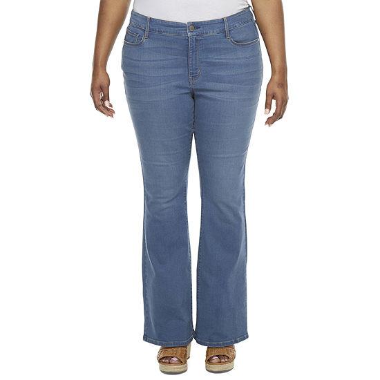a.n.a-Plus Womens Flare Jean