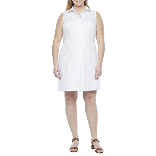 Liz Claiborne-Plus Sleeveless Sheath Dress