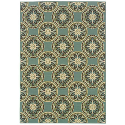 Covington Home Martinique Sand Dollar Indoor/Outdoor Rectangular Rug