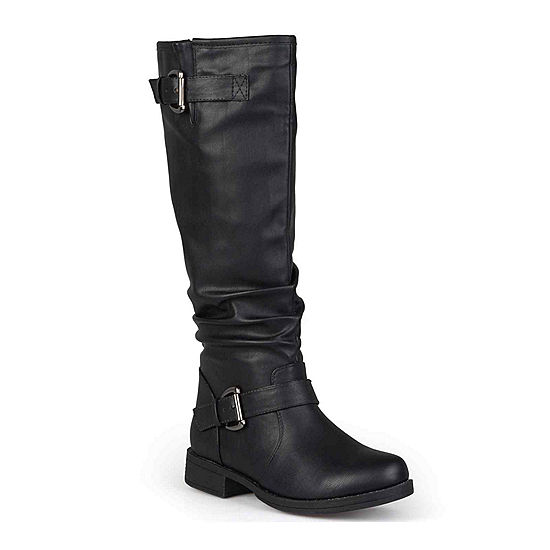 9415bc04a4243 Journee Collection Stormy Buckle Accented Riding Boots JCPenney