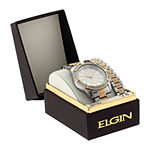 Elgin® Mens Two-Tone Watch and Bracelet Set