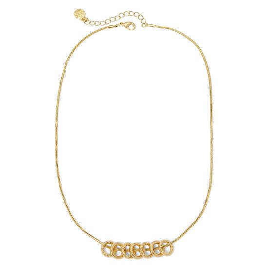 Monet Gold Tone Pendant Necklace