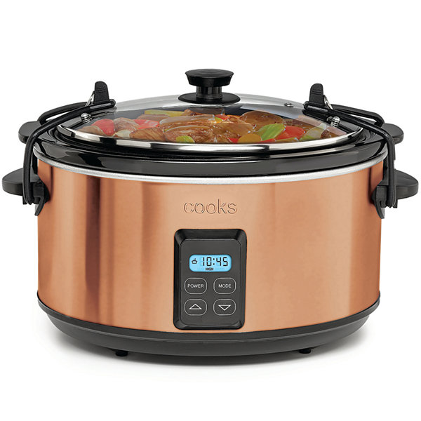 Cooks 5-Qt. Programmable Latch and Travel Slow Cooker