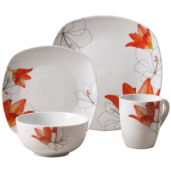 Tabletops Gallery® Lily 16-pc. Ceramic Dinnerware Set - JCPenney