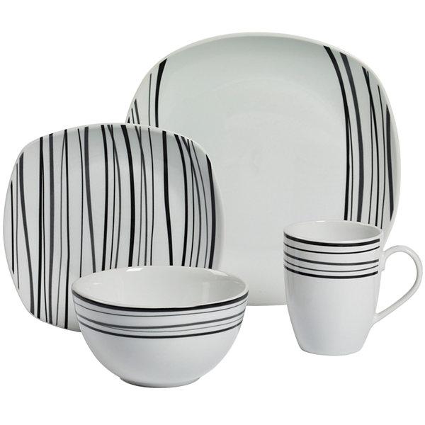 Tabletops Gallery® Justin 16-pc. Dinnerware Set  sc 1 st  JCPenney & Tabletops Gallery Justin 16 pc Dinnerware Set