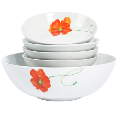 Tabletops Gallery® Poppy 5-pc. Pasta Set