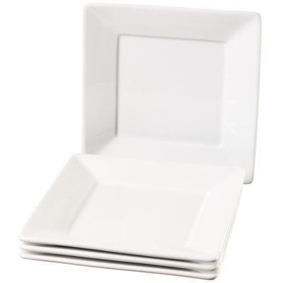 Tabletops Unlimited® Denmark Set of 4 Square Salad Plates