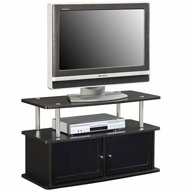 Martin Entertainment Center with 2 Storage Cabinet, 1 Fixed Shelf (Espresso/Black)