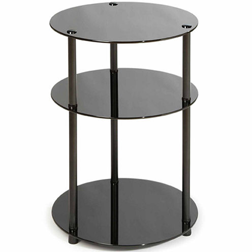 Patricia 3-Tier Round Glass Accent Table