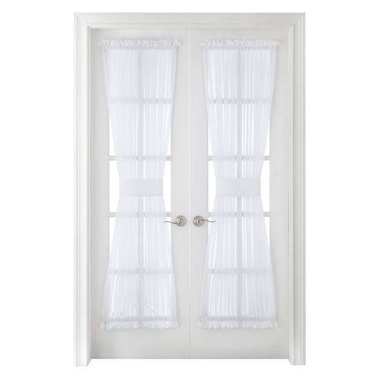 Home Expressions Lisette Rod-Pocket Sheer Door Panel
