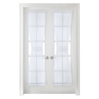 Liz Claiborne® Lisette Rod-Pocket Sheer Door Panel