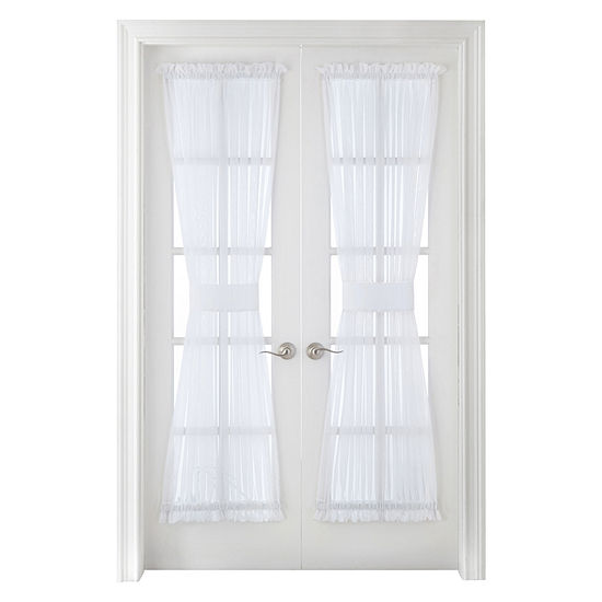 Home Expressions Lisette Sheer Rod-Pocket Single Door Panel Curtain