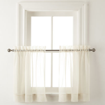 Home Expressions Lisette Rod-Pocket Sheer Window Tiers