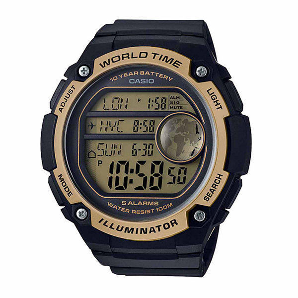 Casio Mens Black Strap Watch-Ae3000w-9av