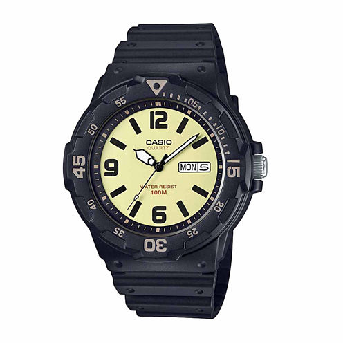 Casio Mens Black Strap Watch-Mrw200h-5bv