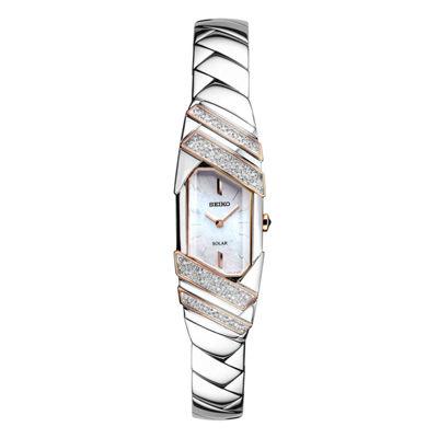 Seiko Freeform Womens Silver Tone Bracelet Watch-Sup332