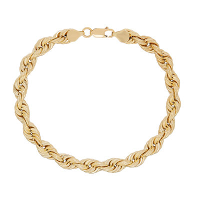 10K Gold 9 Inch Hollow Rope Chain Bracelet