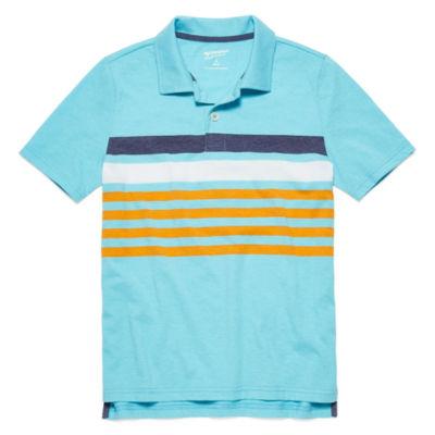 Arizona Short Sleeve Stripe Polo Shirt - Big Kid Boys