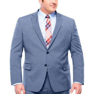 JF J.Ferrar Pattern Classic Fit Stretch Suit Jacket-Big and Tall