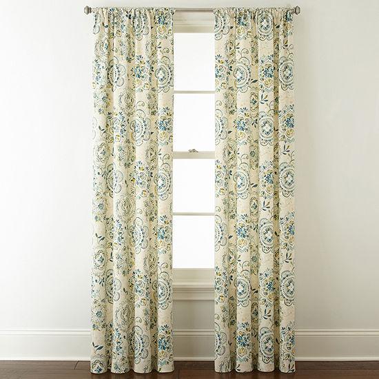 Home Expressions Kayden Light-Filtering Rod-Pocket Curtain Panel