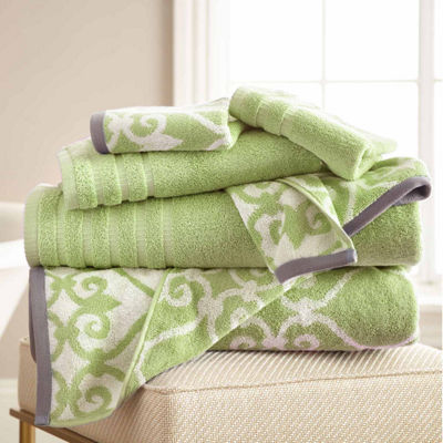 Pacific Coast Textiles Lattice Yarn Dyed 6- pc. Bath Towel Set