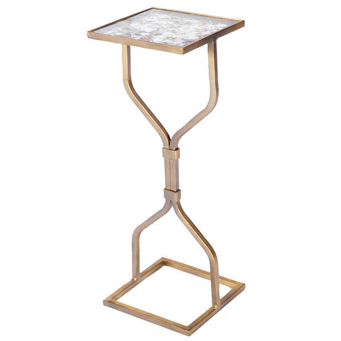 Hourglass Chairside Table