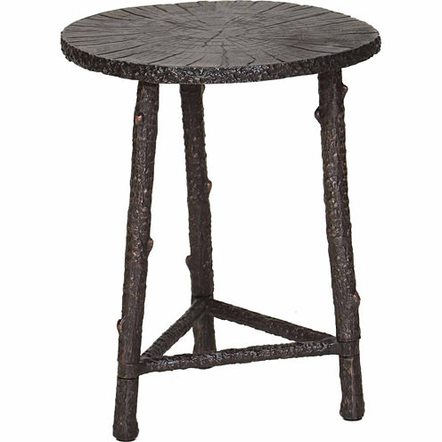 Cast Aluminum Chairside Table