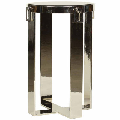 Flat Steel With Hardware Drops Chairside Table