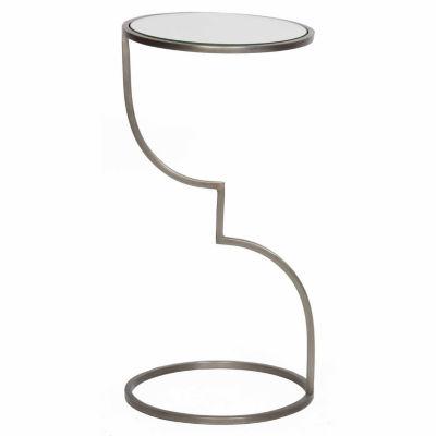 Single-Leg Zigzag Chairside Table