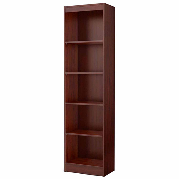 Axess 5-Shelf Narrow Bookcase