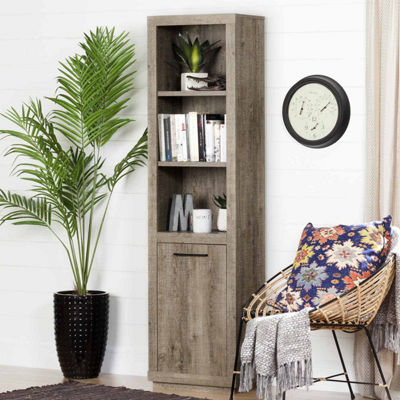 Kanji 3-Shelf Bookcase with Door