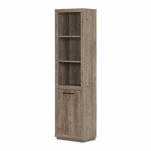 Kanji 3-Shelf Bookcase with Door