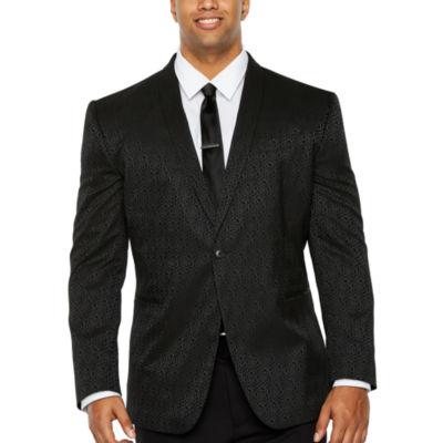 JF J.Ferrar Floral Classic Fit Tuxedo Jacket - Big and Tall