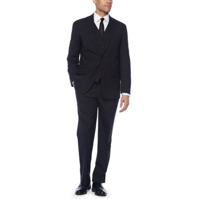 Claiborne Black Tic Slim Fit Suit Separates