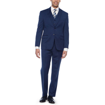Collection by Michael Strahan Blue Texture Suit