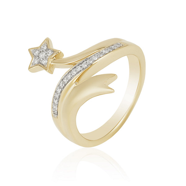 "Enchanted Disney Fine Jewelry 1/5 CT. T.W. Genuine Diamond 10K Gold ""Tinker Bell"" Ring"