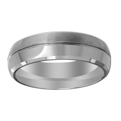 Mens 7mm Titanium Wedding Band