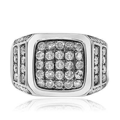Mens 2 CT. T.W. Round White Diamond