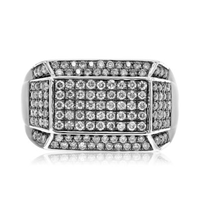 Mens 1 1/2 CT. T.W. White Diamond Sterling Silver