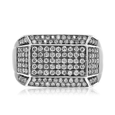 Mens 1 1/2 CT. T.W. White Diamond Sterling Silver Fashion Ring