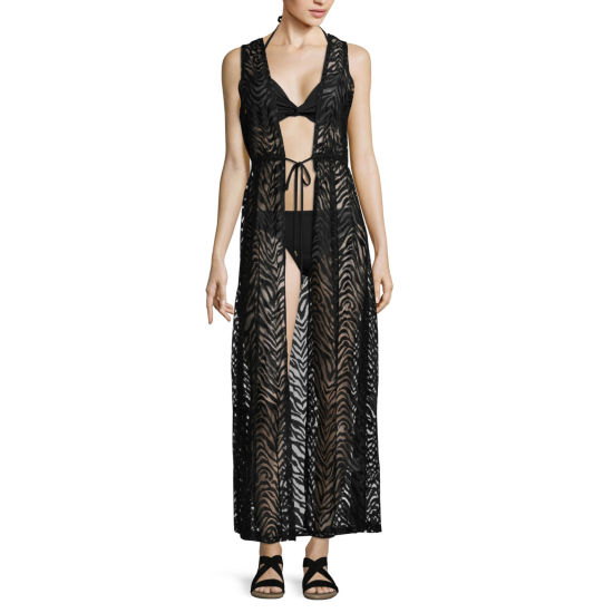 Lm Beach Lace Swimsuit Cover-Up Dress