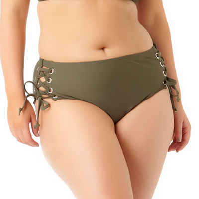 Allure By Img Brief Swimsuit Bottom-Juniors Plus