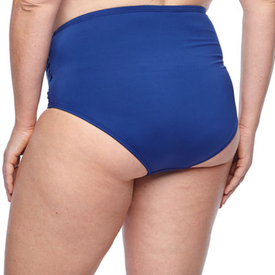 Liz Claiborne High Waist Swimsuit Bottom-Plus