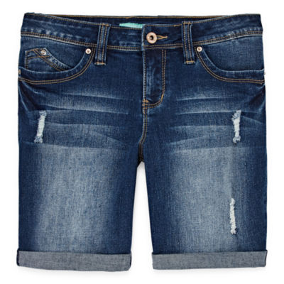 Ymi Wannabettafit Curvy Fit Denim Bermuda Shorts - Big Kid Girls Plus