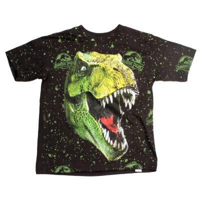 Short Sleeve Crew Neck T-Shirt-Big Kid Boys
