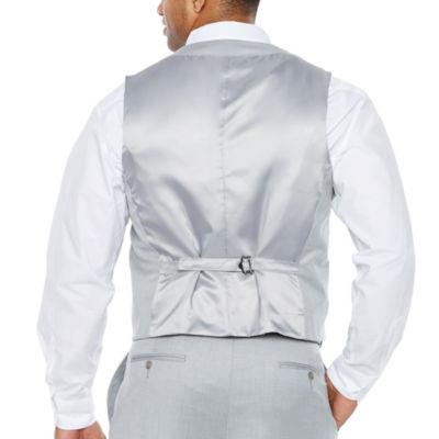 JF J.Ferrar Light Gray Suit Vest - Big & Tall