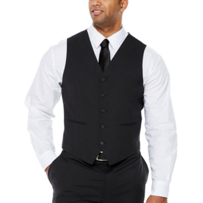 Claiborne Stripe Classic Fit Suit Vest - Big and Tall