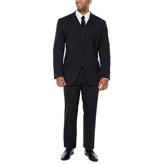 Claiborne Black Tic Big And Tall Suit Separates